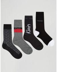 Calvin Klein | Multicolor Socks 4 Pack Gift Set - Multi for Men | Lyst