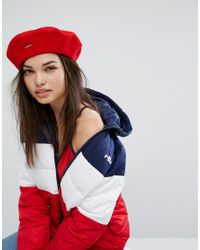 25557e8083093 Kangol Logo Red Beret in Red - Lyst