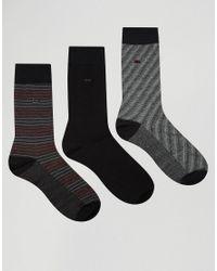 Calvin Klein - Socks 3 Pack Gift Set - Black for Men - Lyst