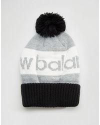New Balance Piste Bobble Hat in Black for Men - Lyst 4c0cf418098