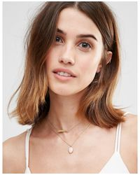 Orelia | Metallic Relia Dreams Locket 2 Row Necklace | Lyst