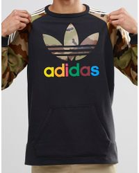 Adidas Originals - Black Camo Pack Crew Sweatshirt Ay8174 for Men - Lyst