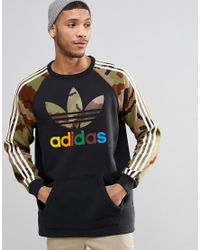 Adidas Originals | Black Camo Pack Crew Sweatshirt Ay8174 for Men | Lyst