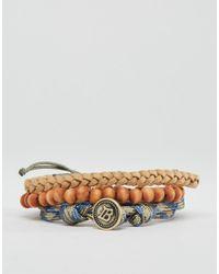 Icon Brand | Brown Rope & Beaded Bracelet Pack for Men | Lyst