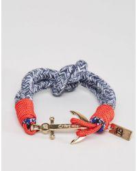 Icon Brand - Anchor Woven Bracelet In Blue for Men - Lyst