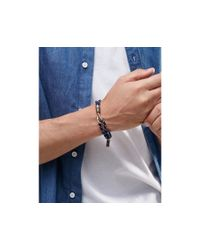 Icon Brand - Blue Hook Rope Bracelet In Navy for Men - Lyst
