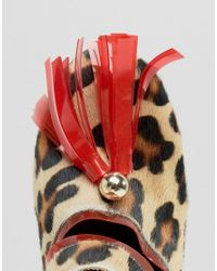 House of Holland - Multicolor Leopard Print Cleated Mule Heeled Shoes - Lyst