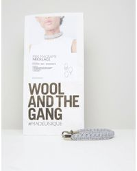 Wool And The Gang | Gray Wool & The Gang Diy Mixi Macrame Choker Necklace Kit | Lyst