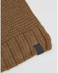 SELECTED - Natural Scarf In Textured Knit for Men - Lyst