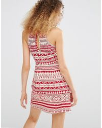 Daisy Street - Dress In Festival Print - Red - Lyst