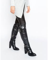 Tommy Hilfiger - Black Gigi Hadid Nautical Over The Knee Heeled Boots - Lyst
