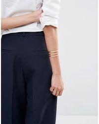 Pilgrim - Metallic Rose Gold Plated Cuff Bracelet - Rose Gold - Lyst