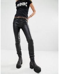 Tripp Nyc - Pvc Skinny Trousers - Black - Lyst