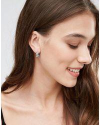 Kingsley Ryan - Metallic Sterling Silver Engraved Hoop Earrings - Lyst