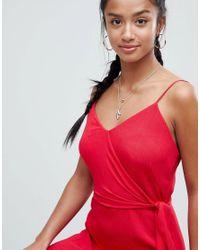 ASOS - Red Wrap Maxi Dress - Lyst