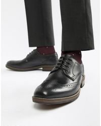 Red Tape - Swinley Lace Up Brogues In Black for Men - Lyst