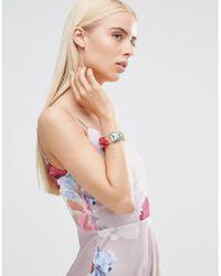 Oasis - Multicolor 3d Flower Bracelet - Lyst