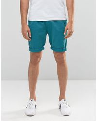 Bellfield - Chino Shorts In Peacock Blue for Men - Lyst