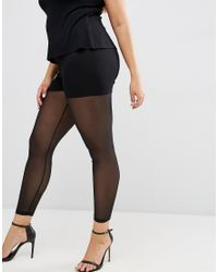ASOS - Black Legging In All Over Mesh - Lyst
