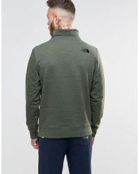 The North Face - Sweatshirt With 1/4 Zip In Green - Green for Men - Lyst