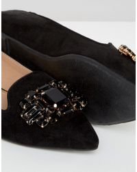 Dune - Black By Dune Lou Lou Embellished Pointed Flat Shoes - Lyst