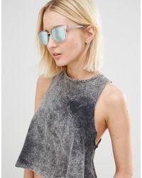 Calvin Klein | Multicolor Jeans Crystal Rectangular Aviator | Lyst