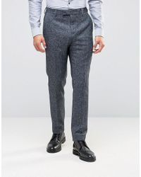 Reiss   Gray Salt & Pepper Pants In Slim Fit for Men   Lyst