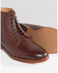 H by Hudson - Brown Forge Leather Boots for Men - Lyst