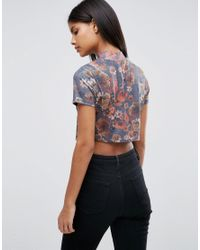 ASOS - Blue T-shirt In 90s Floral - Lyst