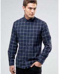 Esprit   Blue Window Pane Check Shirt In Regular Fit for Men   Lyst
