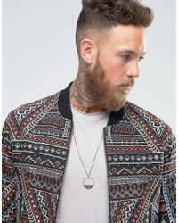 ASOS - Brown Necklace With Burnished Copper Pendant for Men - Lyst