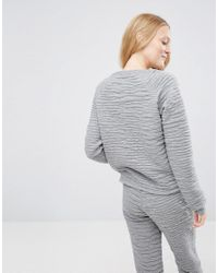 ASOS - Gray Lounge Embossed Croc Sweat - Lyst