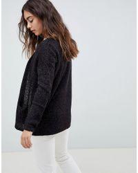 Vero Moda - Black Knitted Cardigan - Lyst