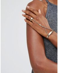 Low Luv by Erin Wasson - Metallic Gold Plated Ring And Hand Harness - Lyst