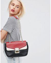 Love Moschino - Gray Colour Block Shoulder Bag - Lyst