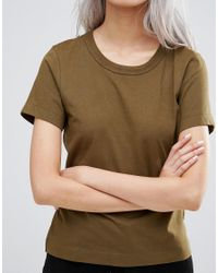 Weekday - Scoop T-shirt - Khaki Green - Lyst