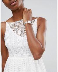 Olivia Burton - Gray Midi Dial Grey Leather Watch Ob16mdw05 - Lyst