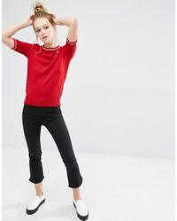 Fred Perry - Bella Freud Star Embroidered Knit Top - Lyst
