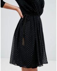 Pepe Jeans Black Land Mesh Wrap Dress