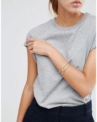 Pieces - Metallic Galina Bracelet - Lyst