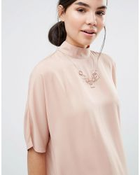 Pieces - Metallic Pline Necklace - Lyst
