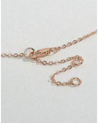 Pieces | Metallic Pline Necklace | Lyst