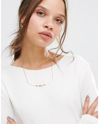 Pieces - Metallic Danely Necklace - Lyst