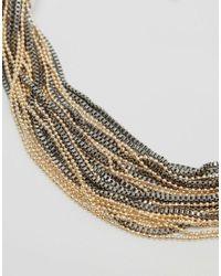Pieces - Metallic Denize Necklace - Lyst