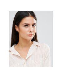 Orelia - White Relia Crystal Triangle Bar Drop Earrings - Lyst