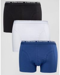 Björn Borg | 3 Pack Trunks - Blue for Men | Lyst