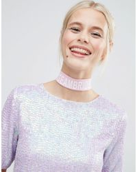 ASOS | Pink Hen Team Bride Choker Necklace | Lyst