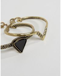 ASOS - Metallic Triangle Etched Bracelet Pack - Lyst