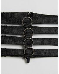 Regal Rose - Nirvana Wide Black Ring Choker - Lyst