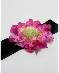 Rock N Rose | Multicolor Rock N Rose Flower Corsage Choker | Lyst